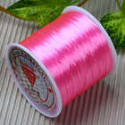 0.5mm Pink Strong Stretchy Bead String Necklace Cord Thread 80 Yard Jewelry DIY