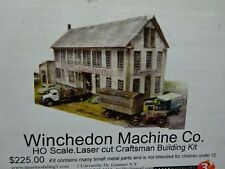Lasermodeling 3 HO Winchedon Machine Co. Laser Cut Craftsman Building Kit