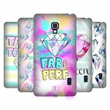 HEAD CASE DESIGNS GLAM DIAMANTI COVER RETRO RIGIDA PER LG TELEFONI 3