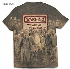 Official T Shirt The Walking Dead ~ WARNING Sublimation All Sizes