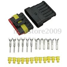 1 kit Car Part 6 Pins Way Sealed Waterproof Electrical Wire Connector Plug Set