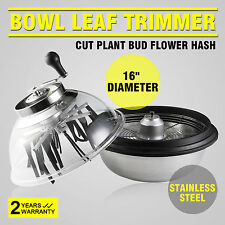 "16"" BOWL BUD LEAF TRIMMER HYDROPONICS REMOVE  TWIGS CLEAR TOP PROFESSIONAL"