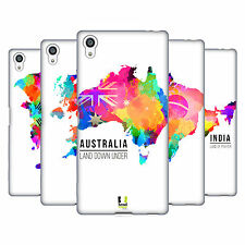 HEAD CASE DESIGNS WATERCOLOURED MAPS SOFT GEL CASE FOR SONY PHONES 2