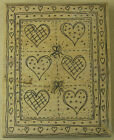 WEST WIND CREATIONS RUBBER STAMP COVERED WITH LOVE HEART QUILT WOOD MOUNTED 1997
