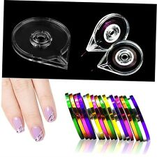 New Simple Useful Nail Art Striping Tape Line Case Box Holder Tool Plastic GU