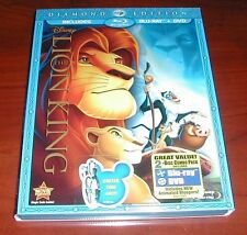 The Lion King (Blu-ray/DVD, 2011, 2-Disc Set, Diamond Edition) New