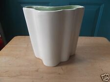 Vintage Red Wing Art Pottery Green and Creamy White Planter or Vase