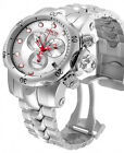 RARE New Invicta 11784 Reserve Men Full Size Venom Swiss Made Silver & Red Watch