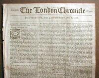 Original 1779 American Revolutionary War newspaper from London ENGLAND