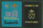 Boy Scout Double Badge TAMWORTH/COUNTY of STAFFORD