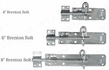 4/6/8inch Galvanised Brenton Slip Bolt +Fiting Zinc Plated Garden Gate Shed Lock