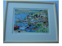 Mylor Yacht Harbour Cornwall Framed Limited Edition Signed Print by Serena