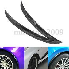 Universal Carbon Fiber Car Flares Wheel Fender Lip Body Kit Protect Decoration