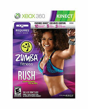 Zumba Fitness: Rush  (Microsoft Xbox 360, 2012); NEW! Ship Daily Free USPS First