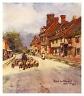 East Grinstead High Street, Wilfred Ball, antique ready-mounted print 1903