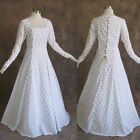 White Gold Medieval Renaissance Cosplay Gown Dress Costume LOTR LARP Wedding 2X