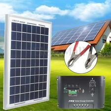 10W 12V Energy Solar Panel Polycrystalline &10A Solar Controller & 3m Cable Clip