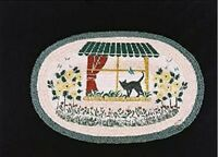 BRAIDED RUG--Earth Rugs, 20 X 30 Jute CATS in a Window