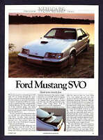 1984 Ford Mustang SVO Coupe Road Test & Technical Data