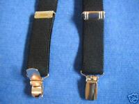BOYS/GIRLS  SUSPENDERS - BRAND NEW! BLACK/MADE IN THE USA