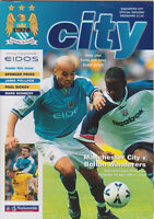 Football Programme MANCHESTER CITY v BOLTON WANDERERS Apr 2000