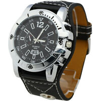 Black Round Hours Luxury Sports Men  Quartz Wrist Watch
