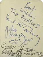 THE BEATLES Signed Autograph Book Page - Pop Stars