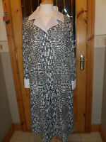 Vintage Black/White 1920/40s Dress sz 18 Cresta Downton Abbey
