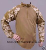 NEW British Army Issue Desert Camo UBACS Under Body Armour Shirt Size LARGE
