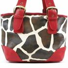 Giraffe Designer Inspired Red Handbag Purse Hand Bag