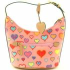Designer Inspired Fashion Hearts Pink Purse Handbag
