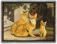 70x53 ABYSSINIAN CAT Tapestry Afghan Throw Blanket