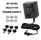 9 VOLT 1600 MA AC/DC POWER SUPPLY ADAPTER 9V 1.6/1.67 A / 240v aus