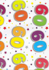 60th gift wrap 2 sheets birthday wrapping paper + tag