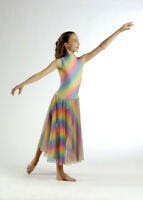 TO ORDER Beautiful Rainbow Lyrical Dress Dance Costume All Sizes