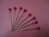 30 PINK PEARL HEADED CORSAGE/BUTTON HOLE/FLOWER PINS