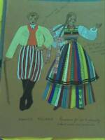 Costume Drawing : Lowicz Poland