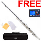 Cecilio 2Series C Flute Silver Plated Closed-Hole+Tuner