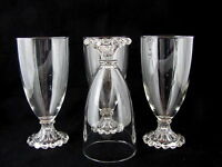 """4 ANCHOR HOCKING BOOPIE GLASS WATER GLASSES, 5 1/2"""" tal"""