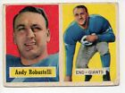 1957 Topps Football Card #71 Andy Robustelli-New York Giants