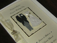 Personalised Handmade Wedding Card - Luxury Boxed