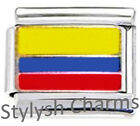 COLOMBIA COLOMBIAN FLAG Enamel Italian Charm 9mm - 1x PE007 Single Bracelet Link