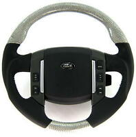 Upgraded Silver Carbon Fiber+ nappa leather Steering Wheel for Range Rover SPORT