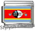 SWAZILAND FLAG Photo Italian Charm 9mm - 1 x PC168 Single Bracelet Link
