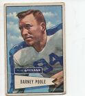 1952 Bowman Small Football Card #11 Barney Poole-Dallas Texans