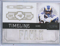 Marshall Faulk 11 Panini National Treasures Timelines Jersey Card /99