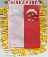 Singapore Flag Hanging Car Pennant for Car Window or Rearview Mirror