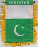 Pakistan Flag Hanging Car Pennant for Car Window or Rearview Mirror