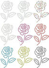 ROSE FLOWER IRON-ON rhinestone DIAMANTE CRYSTAL BEAD BLING TSHIRT TRANSFER PATCH