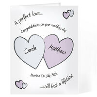 Personalised Names Perfect Love Wedding Day Congratulations Card  - GC00219